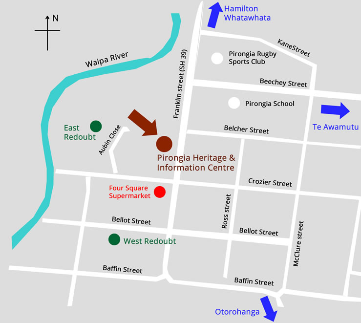 pirongia location map